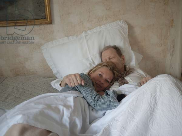 With Kate in bed, 2010 (photo)