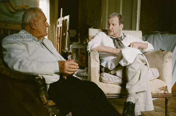 Lucian Freud and John Richardson, 2009 (photo)