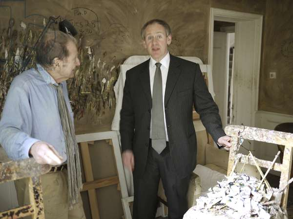 Lucian Freud and Paul McLean, 2008 (photo)