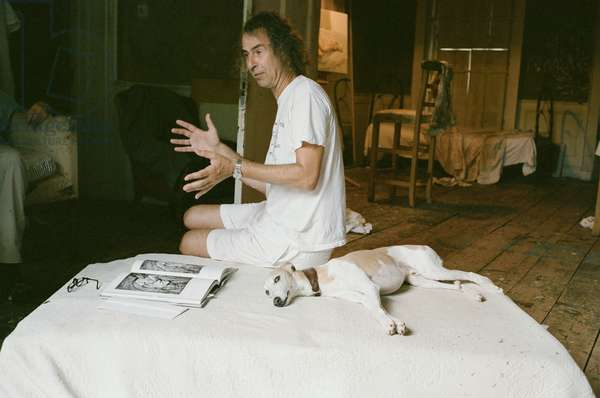 Ivor Braka at Lucian Freud's studio, 2009 (photo)