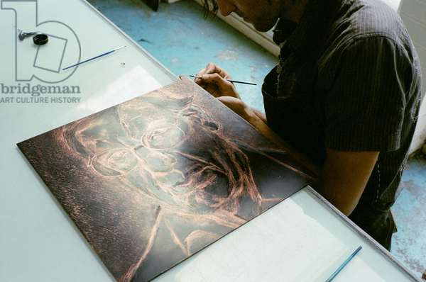 Copper etching plate, The New Yorker, 2006 (photo)