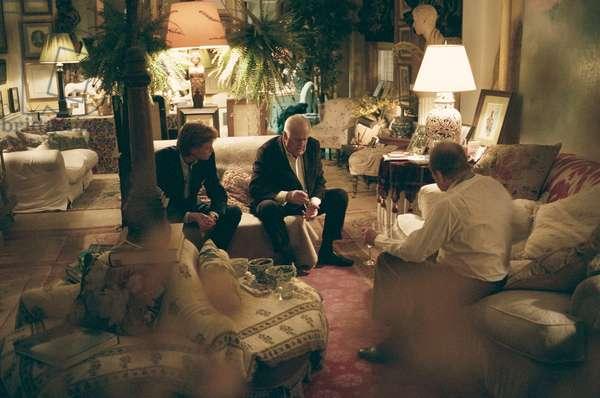 Lucian Freud, James Holland-Hibbert and John Richardson, New York, 2007 (photo)