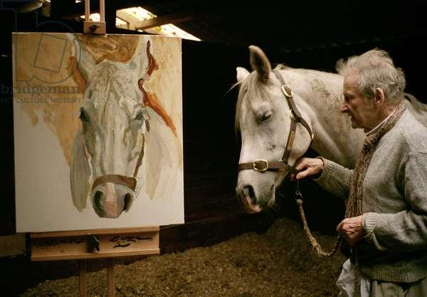 Grey Gelding with his portrait, 2003 (photo)