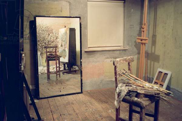 Mirror in the studio, 2004 (photo)