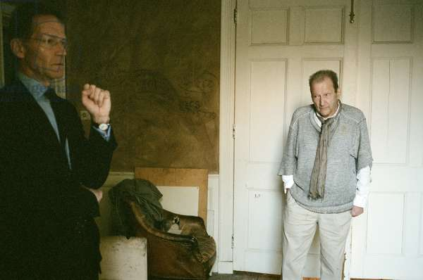 Lucian Freud and Nick Serota at Lucian Freud's studio, 2010 (photo)
