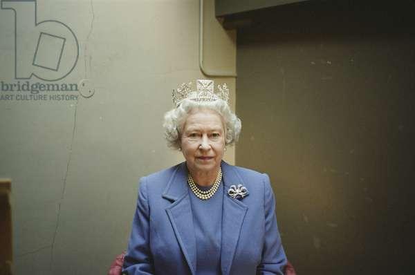 H.M. Queen Elizabeth II sitting for Lucian Freud, 2001 (photo)