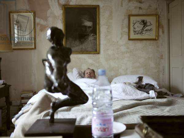 Rodin, Iris, Messenger of the Gods, 1890-1 (Lucian Freud with his cast of Iris), 2010 (photo)