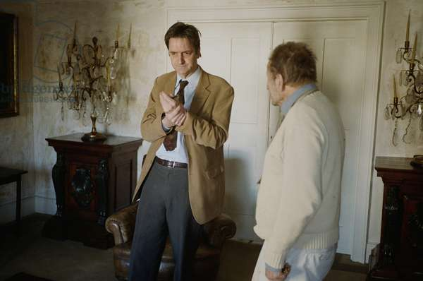 Lucian Freud and Nicholas Penny, Kensington Church Street, 2008 (photo)