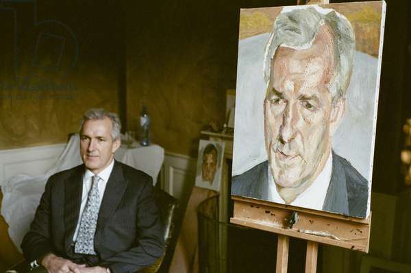 Jeremy King sitting for Lucian Freud, 2006-07 (photo)