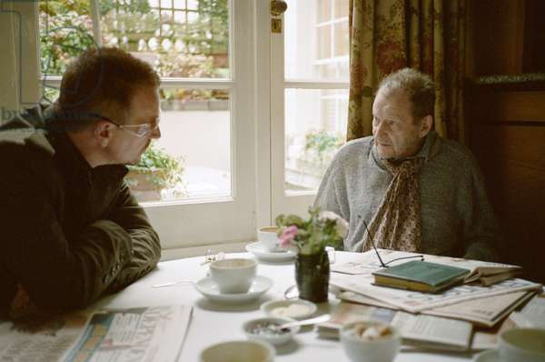 Lucian Freud and Bono, Clarke's Restaurant, Kensington Church Street, 2010 (photo)