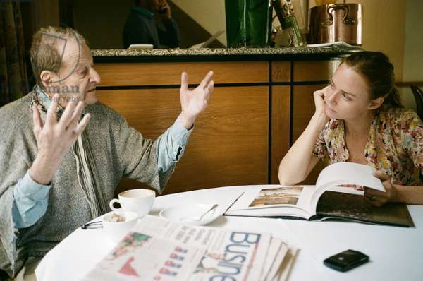 Lucian Freud and Stella McCartney, Clarke's Restaurant, Kensington Church Street, 2010 (photo)