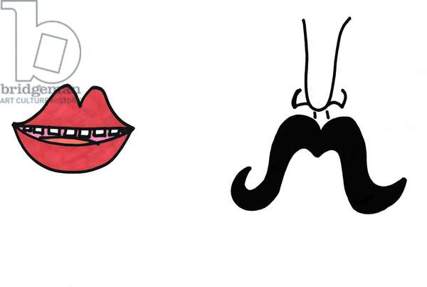 Red Lips & Moustache