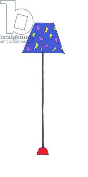Standing Lamp Blue Shade