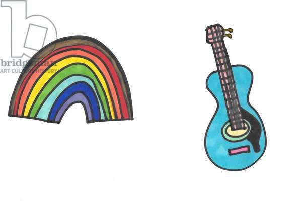 Rainbow & Blue Guitar