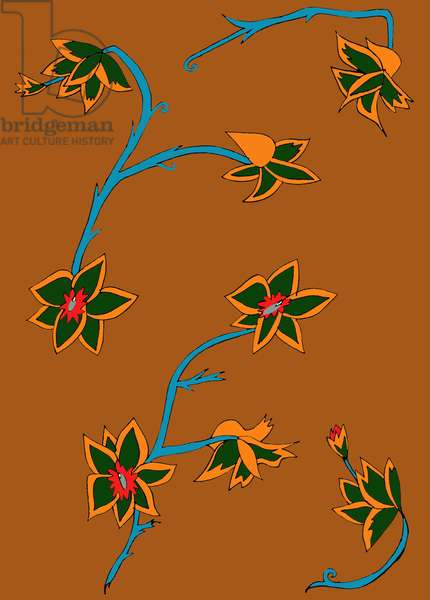 Brown Background Flowers
