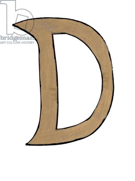 'D' Gold Letter