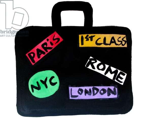 Paris, NYC, London, Rome Suitcase