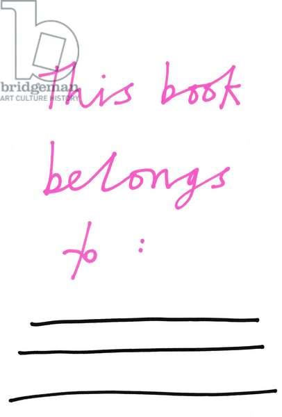 This Book Belongs To: