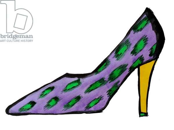 Purple High Heel