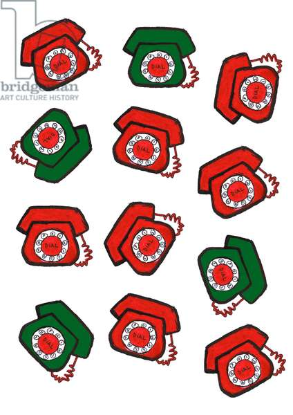 Red & Green Telephones