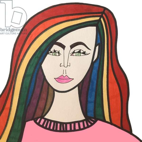 Rainbow Haired Girl