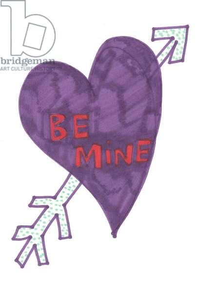 Purple Be Mine Heart