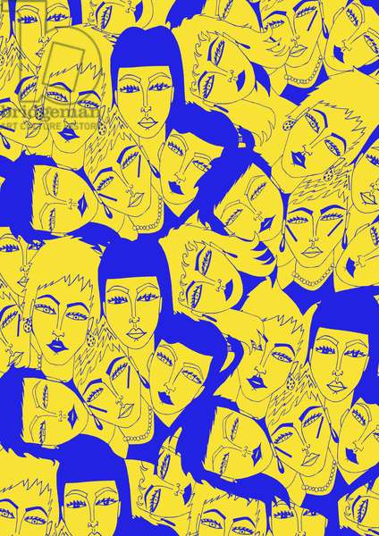 Yellow & Blue Faces
