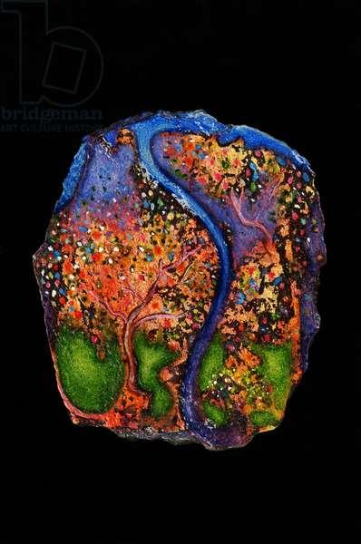 Garden of Eden, 2007 (oil on slate)