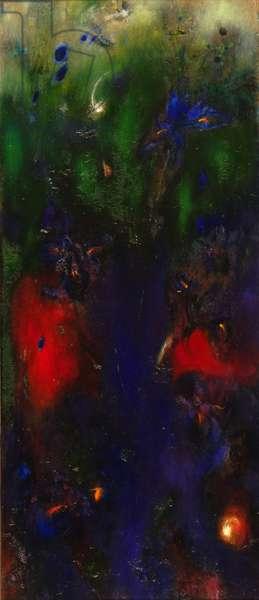Irises, 2005 (oil on canvas)