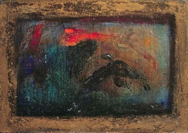 Golden Rain (oil on canvas)