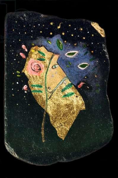 The Rose Tree, 2006 (oil on slate)
