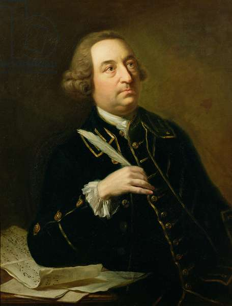 Portrait of John Christopher Smith (1712-95), musician and amanuensis of Handel
