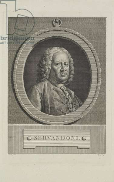 Servandoni, engraved by Simon Charles Miger (1736-1820), c.1766 (engraving)