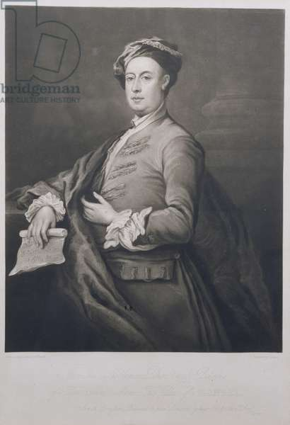 Portrait of George Frederick Handel (1685-1759) engraved by Charles Turner (1773-1857) 1821 (mezzotint)