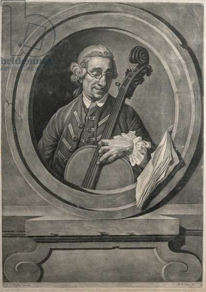 Portrait of a musician, possibly Franz Joseph Haydn (1732-1809), engraved by M.A. Picot (engraving)