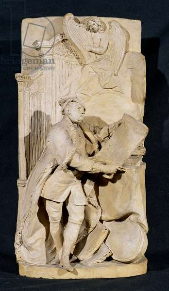 Modello for the monument to George Frederick Handel (1685-1759) in Westminster Abbey, c.1760 (terracotta)