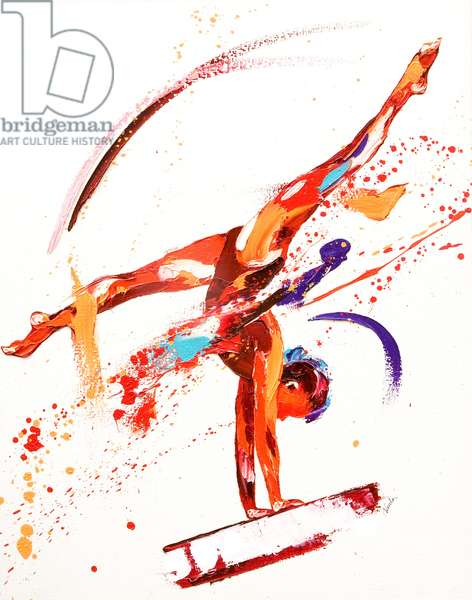 Gymnast One, 2010 (oil on canvas)