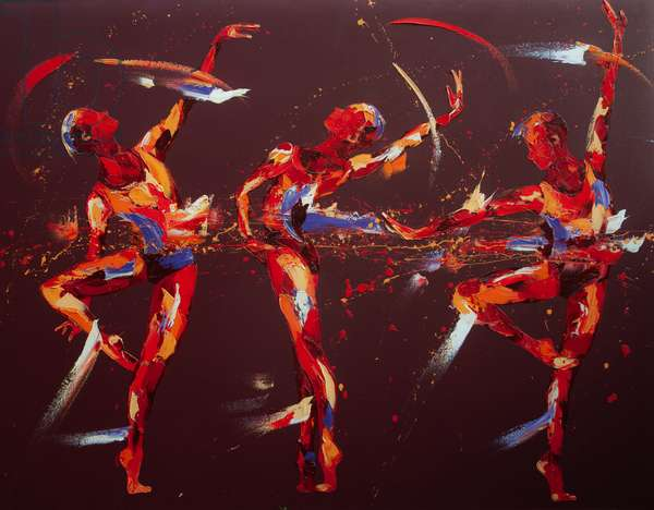 Three Degrees, 2009, (oil on canvas)
