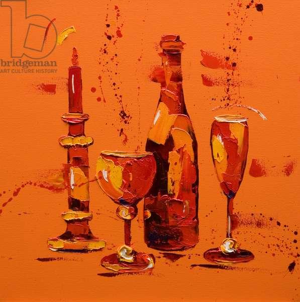 Still Life in Orange, 2005 (oil on canvas)