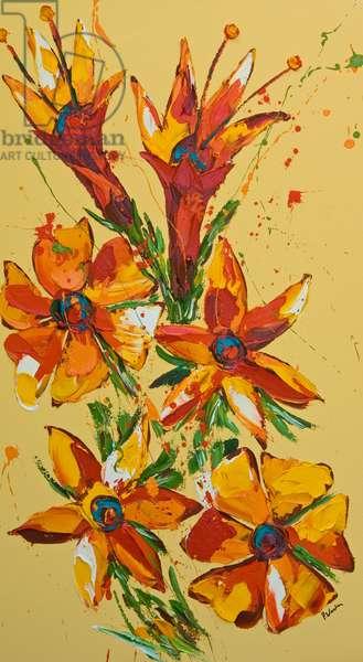 Flower, 2007, (oil on canvas)