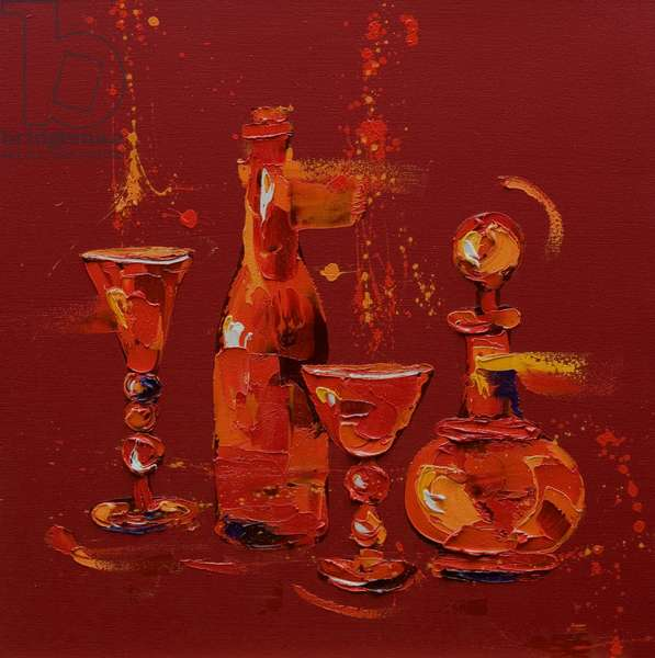 Still Life in Red, 2005 (oil on canvas)