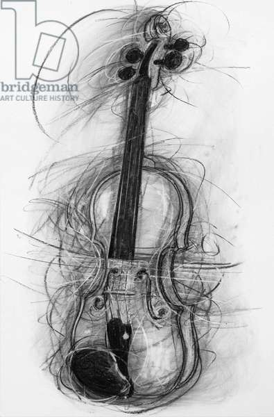 Violin, 2005 (charcoal on paper)