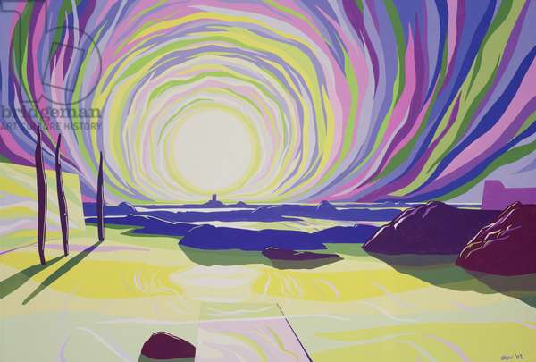 Whirling Sunrise, La Rocque, 2003 (gouache on paper)
