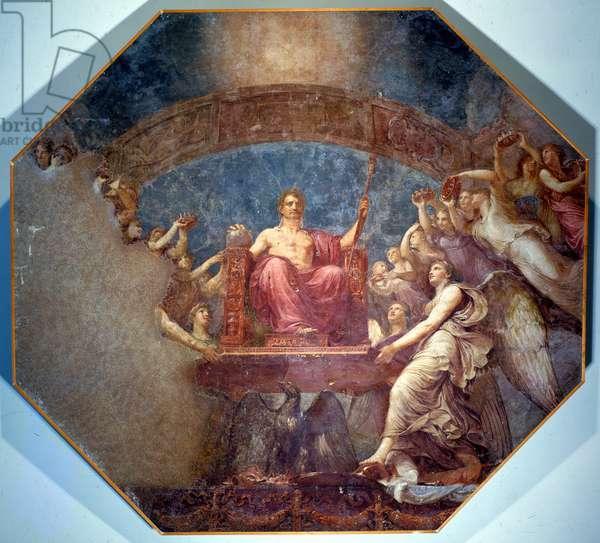 Apotheosis of Napoleon by Andrea Appiani. Villa Carlotta, Tremezzo.
