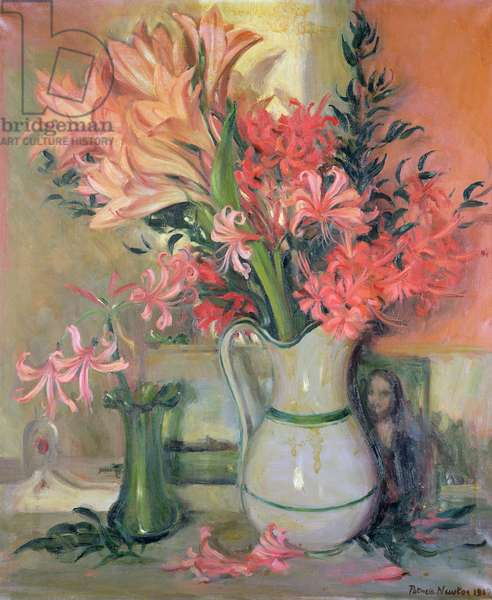 Vase of Lilies, 1967 (oil on canvas)
