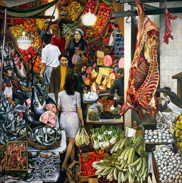 The Vucciria, 1974 (oil on canvas)