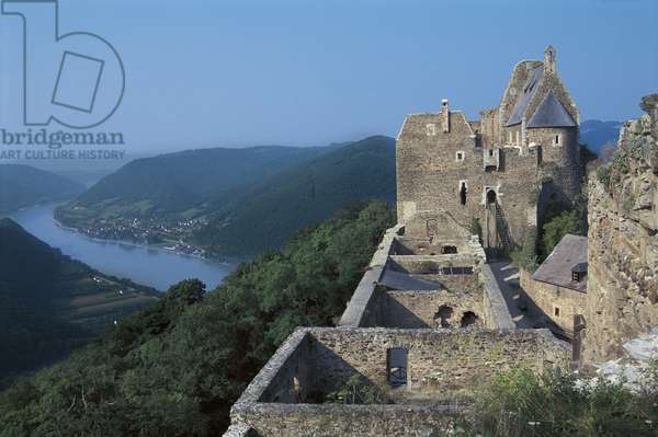Fortress at the riverbank, Danube River, Wachau, Lower Austria, Austria