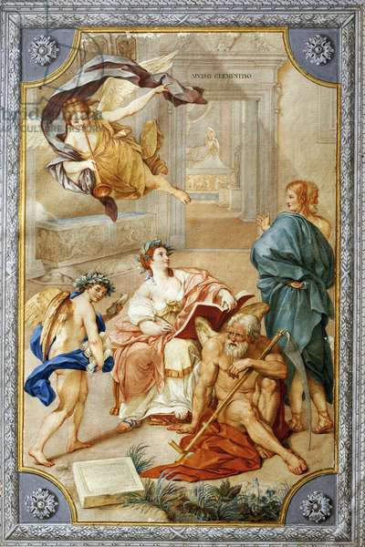 Allegory from the Clementino Museum, by Anton Raphael Mengs, mixed media, 1728-1779, 43x295 cm