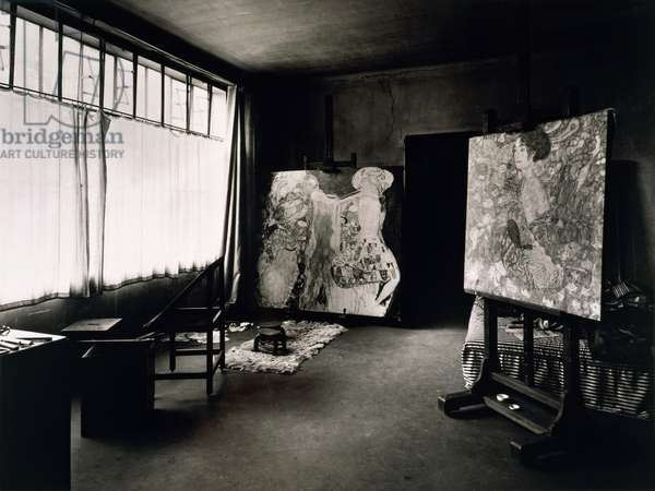 The last studio of Gustav Klimt (1862-1918), Feldmuehlgasse 11, Vienna, Austria, photograph, 20th century