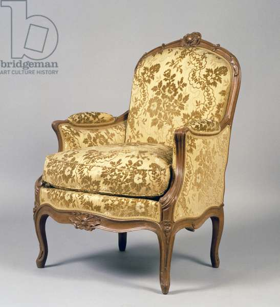 Louis XV carved armchair, France, 18th century